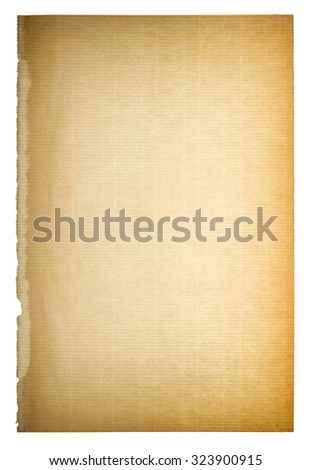 Used paper page texture. Vintage cardboard background with vignette - stock photo