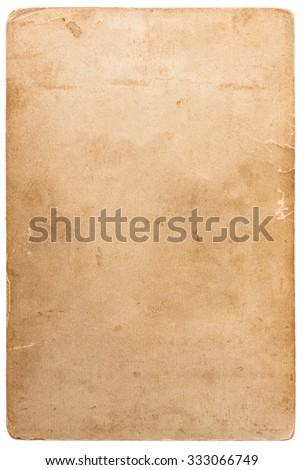 Used photo cardboard texture. Scrapbook object. Old paper sheet with edges  - stock photo