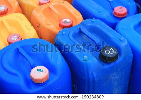 used plastic gallon - stock photo