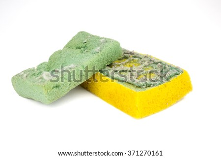 Used sponges for washing the dishes
