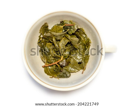 Used tea. - stock photo