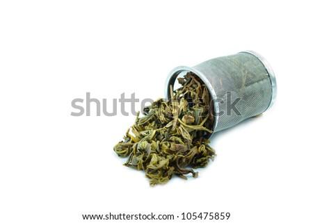 Used Tea trash on White Background - stock photo