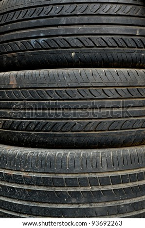 Used tire replacement - stock photo