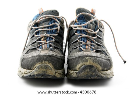 Used trekking shoes