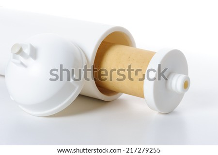 used ultra filtration membrane filter for water filtration - stock photo