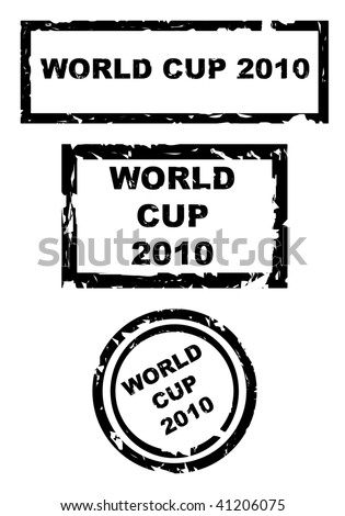 Used world cup football 2010 stamps iaoletd on white background. - stock photo