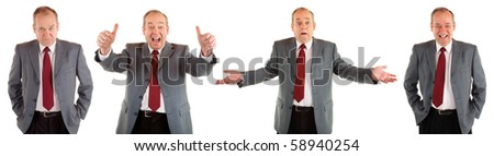 Useful Businessman Expressions Collection - stock photo
