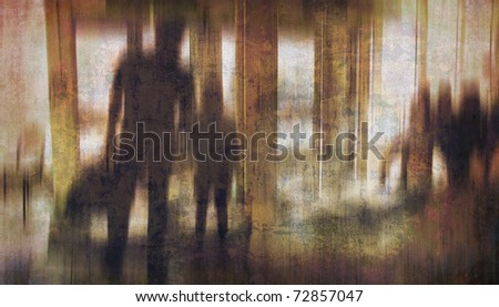 Useful conceptual photo - dream - nightmare - fantasy. More of my images worked together to reflect the mood. - stock photo
