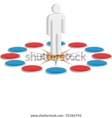 User centric, customer centered business diagram - stock photo