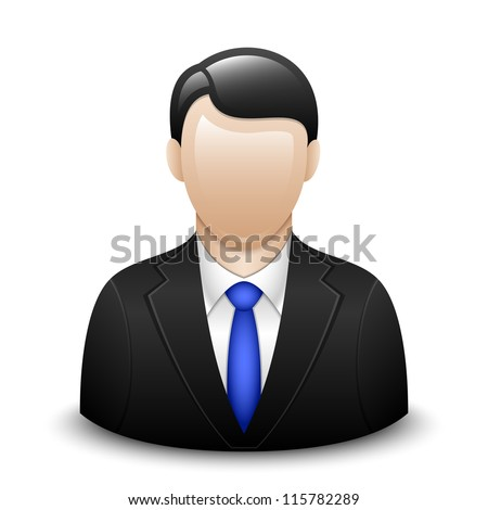 User icon of man in business suit - stock photo