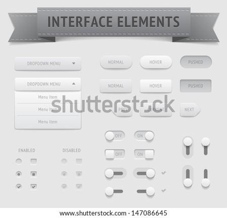 User interface elements. Raster version.  - stock photo