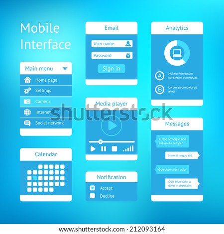 user interface template design for mobile apps