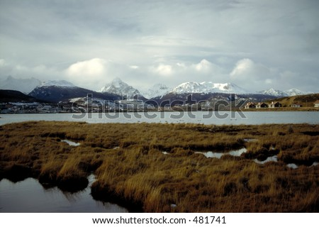 Ushuaia, the southernmost city of the world - Land of Fire, Argentina - stock photo