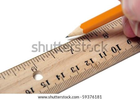 Using a Ruler - stock photo