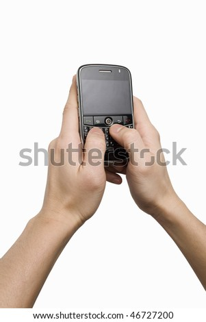 Using cellphone - stock photo