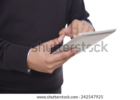 Using digital tablet in the office