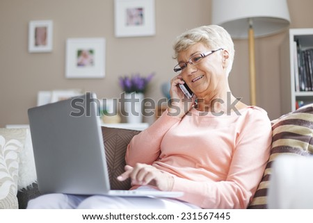 Using from new technology is easier and faster - stock photo