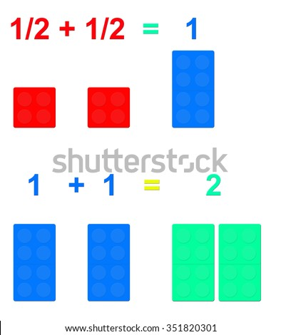 using lego blocks as math summation visual demonstration for small kids