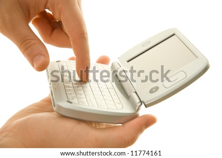 Using pda - stock photo