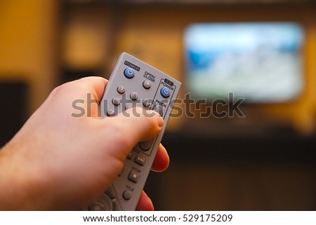 Using remote control for switching programs