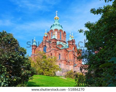 Uspenski cathedral in Helsinki, Finland - stock photo