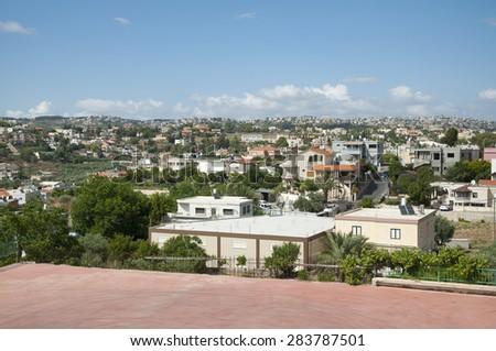 Usphia and Daliat-El-Carmel - stock photo