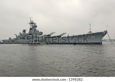 USS New Jersey - stock photo
