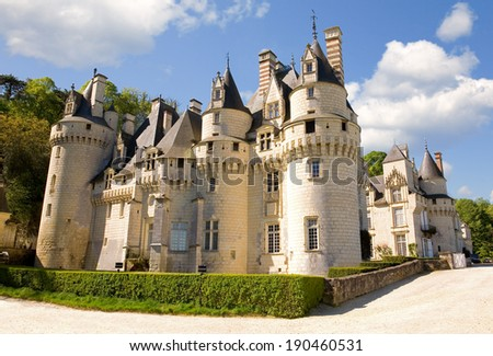 Usse castle in Loire Valley, France - stock photo