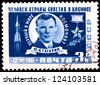 USSR - CIRCA 1961:A Postage Stamp Shows Portrait Yuri Alekseyevich Gagarin, circa 1961 - stock photo
