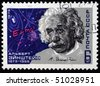 USSR - CIRCA 19769: A stamp printed in the USSR shows Albert Einstein, circa 1979 - stock photo
