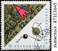 USSR - CIRCA 1966: A Stamp printed in USSR shows the Station on Moon, series, circa 1966 - stock photo