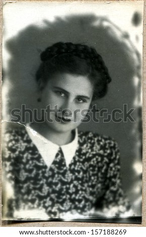 1952 russian girl makhachkala dagestan ussr 1952 stock photo