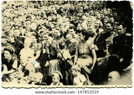 USSR - CIRCA 1960s: Vintage photo shows children's party, 1960s