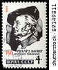 USSR - CIRCA 1963 : stamp printed in USSR shows Richard Wagner, circa 1963 - stock photo
