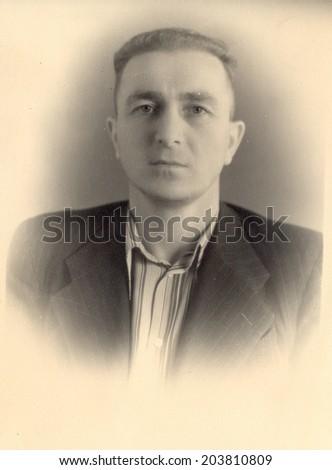 USSR - CIRCA 1961: vintage photo of a man, circa 1961 - stock photo
