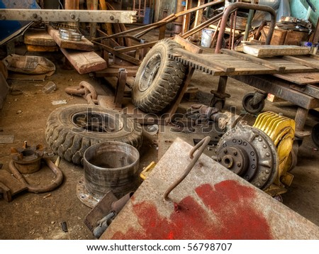 Usual big and solid waste, easy to use for recycling. - stock photo