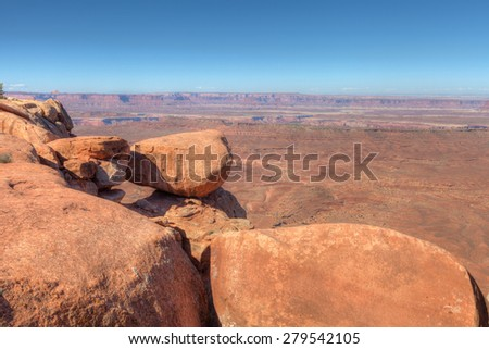 UT- Canyonlands National Park- Island in the Sky District- Grandview Trail. This image was captured on beautiful, almost cloudless day in October.