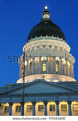 Utah State Capitol at Sunset - stock photo
