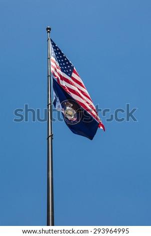 Utah State Flag - stock photo