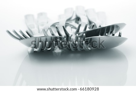 Utensil tools on white background