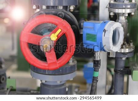 Utility valve. - stock photo