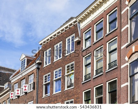 UTRECHT, NETHERLANDS, on March 30, 2016. Typical details of city architecture