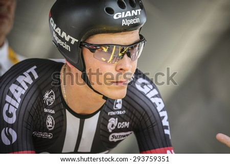 Utrecht, The Netherlands. 4th of July, 2015. Tour de France Time Trial Stage, WARREN BARGUIL, Team Giant Alpecin
