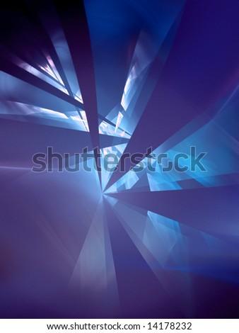 UV Refraction - fractal design - stock photo