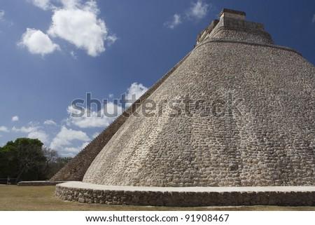 Uxmal Great Pyramid - stock photo
