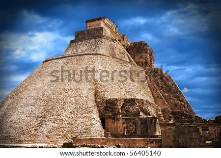 Uxmal ruins Yucatán Mexico - stock photo