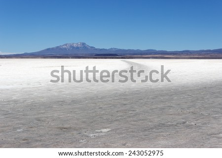 Uyuni salt flat, Bolivia - stock photo
