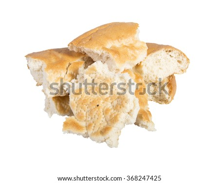 Uzbek bread from the tandyr isolated on white background
