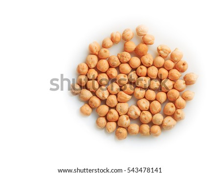 Uzbek Peas Chickpeas, the ingredient for pilaf isolated on a white background