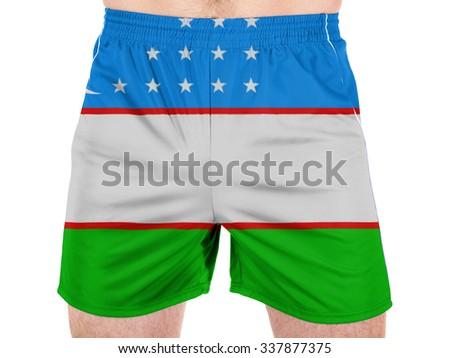 Uzbekistan flag  - stock photo